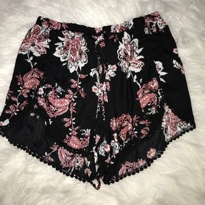 Flora Fabric High-Wasted Shorts (L)